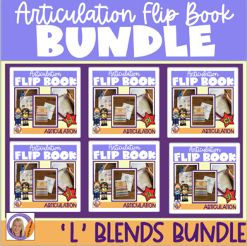 Articulation flip books- 'l' blends bundle for speech and language therapy