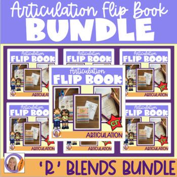 Articulation flip books- 'r' blends bundle