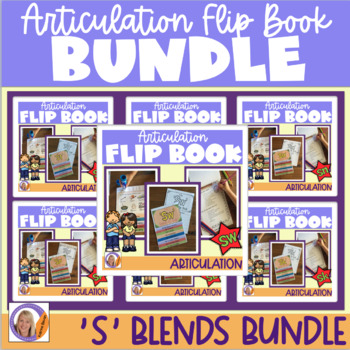 Articulation flip books- 's' blend bundle! for speech and language therapy