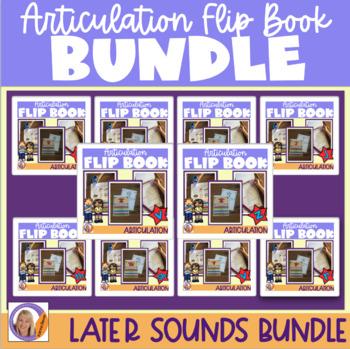 Articulation flip books- s, z, l, sh, ch, r, j (dz), v and th sounds bundle