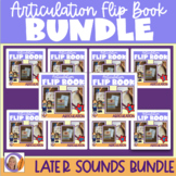 Articulation flip books- s, z, l, sh, ch, r, j (dz), v and