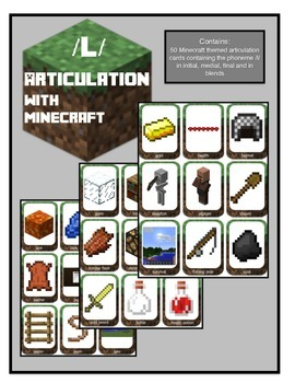 Articulation for /L/:Theme of Minecraft (initial, medial, final and blends)