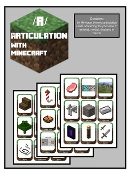 Articulation for /R/:Theme of Minecraft (initial, medial, final and blends)