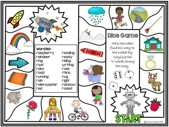 R words Articulation games for speech therapy