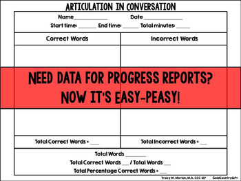 Articulation in Conversation Data Sheet
