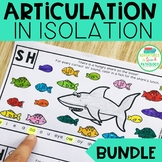 Articulation in Isolation Worksheets - BUNDLE