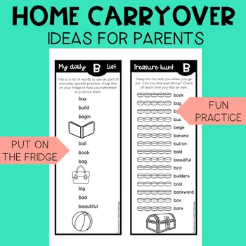 Articulation in Play EARLY SOUNDS Handouts