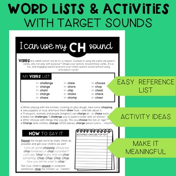 Articulation in Play LATE SOUNDS Handouts