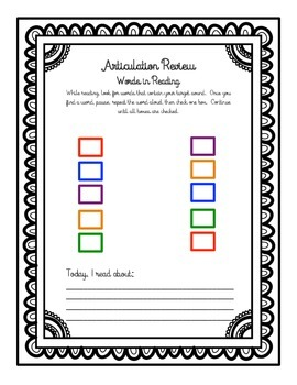Articulation in Reading