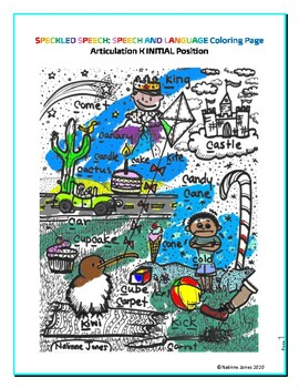 Articulation - initial K - Coloring Sheet - Phonology