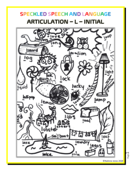 Amazing Articulation   Initial L   Coloring Sheet   Phonology