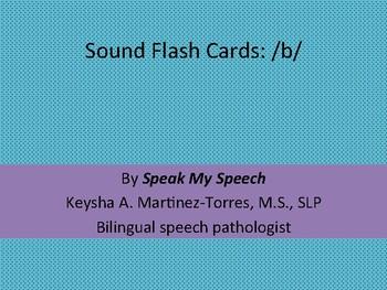 Articulation: initial b flashcards