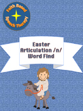 Articulation /n/ Easter Word Find SLP Speech Therapy
