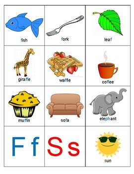 Articulation of Initial/Final F and S Picture Cards