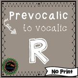 Articulation of Prevocalic to Vocalic R No Print