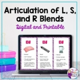 Articulation of Blends | No Print | Teletherapy  | Distanc