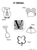 Articulation of /v/ coloring sheets (syllables, initial, medial and final)