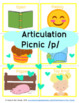 Articulation /p/ targets initial, medial, final vocabulary items