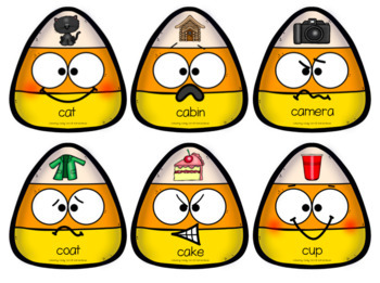 Halloween Speech Therapy Articulation/phonology Game: Collecting Candy Corn