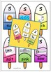 Articulation s and z icy pole matching game activity
