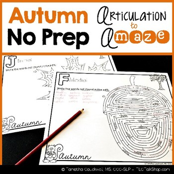 Articulation to A-MAZE: Autumn Edition