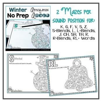 Articulation Mazes: Season BUNDLE