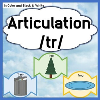 Articulation /tr/ treat themed activity