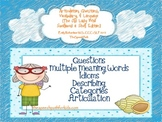 Articulation,Questions,Vocab,& Language {Old Lady Who Swallowed a Shell Edition}