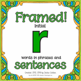 "Articulation/Speech therapy activity: Fun ""Framed! /r/ Sentences"""