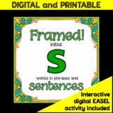 "Articulation/Speech therapy activity: Fun ""Framed! /s/ sentences"""