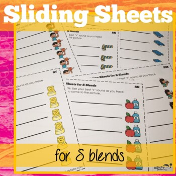 S Cluster Reduction: Sliding Worksheets for articulation/phonological processes