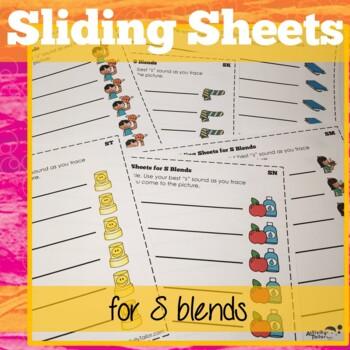 S Blend Sliding Worksheets for articulation/phonological processes