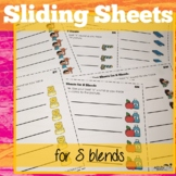 S Blend Sliding Worksheets for articulation/phonological p