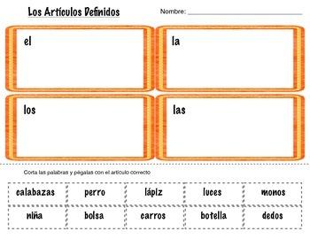 Articulos Defnidos {Spanish Defnite Articles}