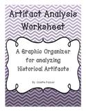 Artifact Analysis Graphic Organizer for Historical Artifacts