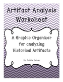 Artifact Analysis Graphic Organizer for Historical Artifacts