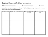 Artifact Bags Capture Sheet (EDITABLE)