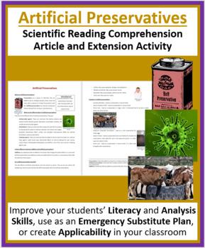 Artificial Preservatives - Science Reading Article - Grades 5-7