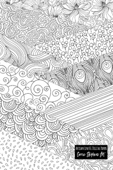 Black and White Digital Paper, Line Art Background 1 of 5, Swirl Doodle Pattern