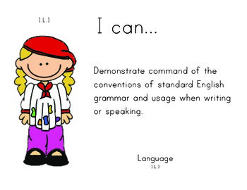 Artist 1st grade English Common core standards posters