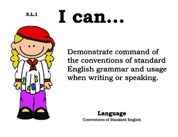 Artist 3rd grade English Common core standards posters