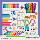 Artist, Art and Painting Clip Art