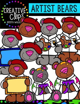 Artist Bears {Creative Clips Digital Clipart}