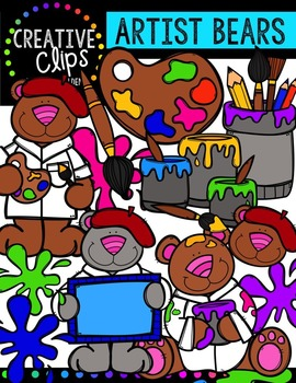 Artist Bears {Creative Clips Digital Clipart}