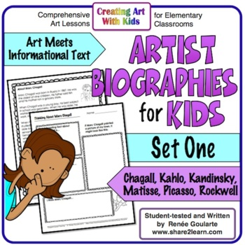 Art History Artist Biographies for Kids Volume One