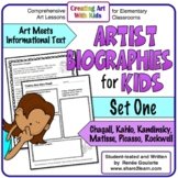 Art History Artist Biographies for Kids Set One