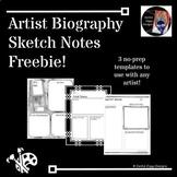 Artist Biography Sketch Notes Freebie