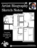 Artist Biography Sketch Notes (Series 1)- 5 Templates