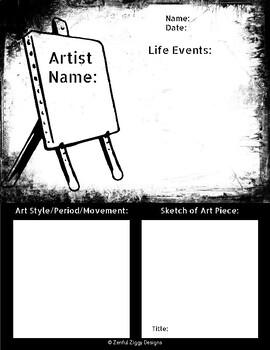 Artist Biography Sketch Notes #1