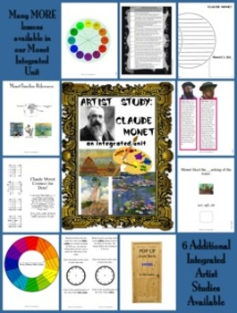 Artist Study:  Claude Monet Complete Integrated Unit (CCSS Aligned)